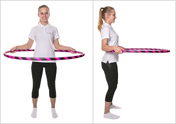 Hula Hoop basic position. Parallel
