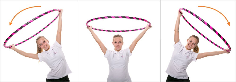 Lateral stretching with hoop