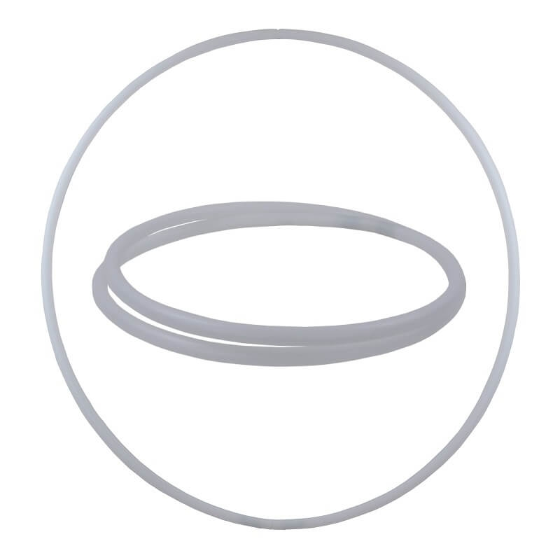 Hula Hoop Rohling, HDPE-20mm, WEISS (milchig), Durchmesser 100cm