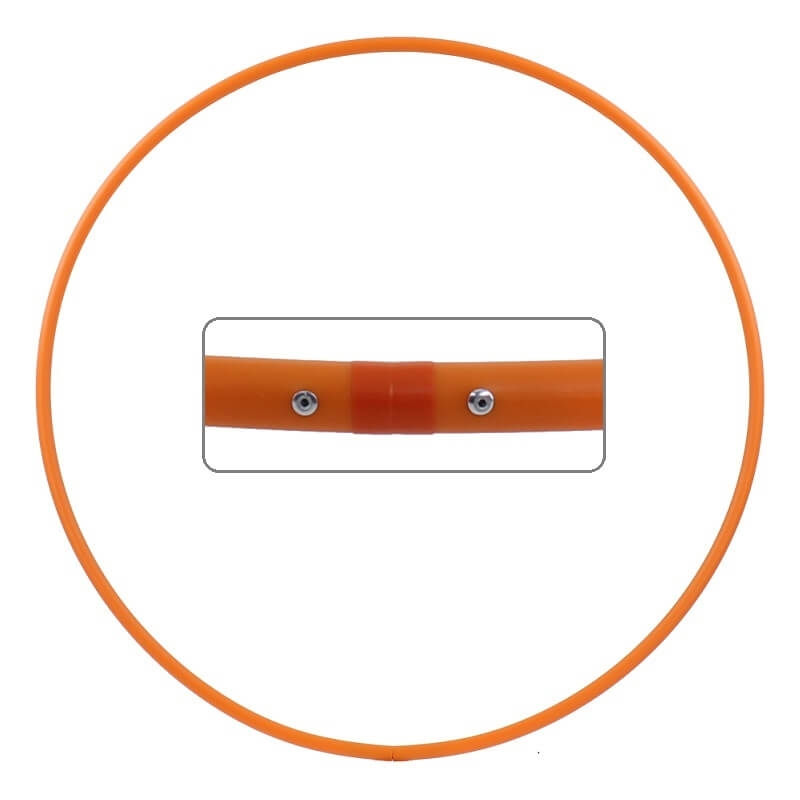 Hula Hoop Rohling, HDPE-16mm, ORANGE, Durchmesser 70cm