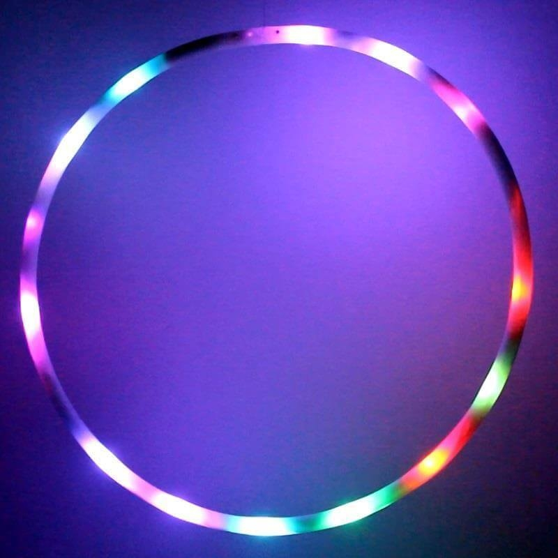 hoopomania mini led hula hoop mit 20 leuchten durchmesser. Black Bedroom Furniture Sets. Home Design Ideas