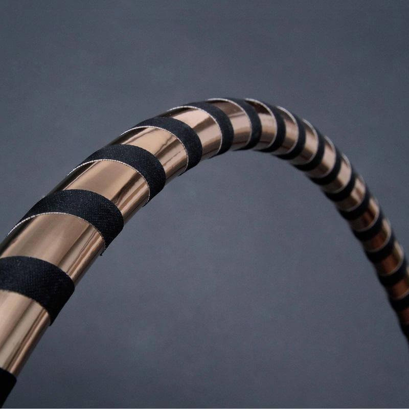 black gold designer hula hoop reifen 80 90 100cm. Black Bedroom Furniture Sets. Home Design Ideas