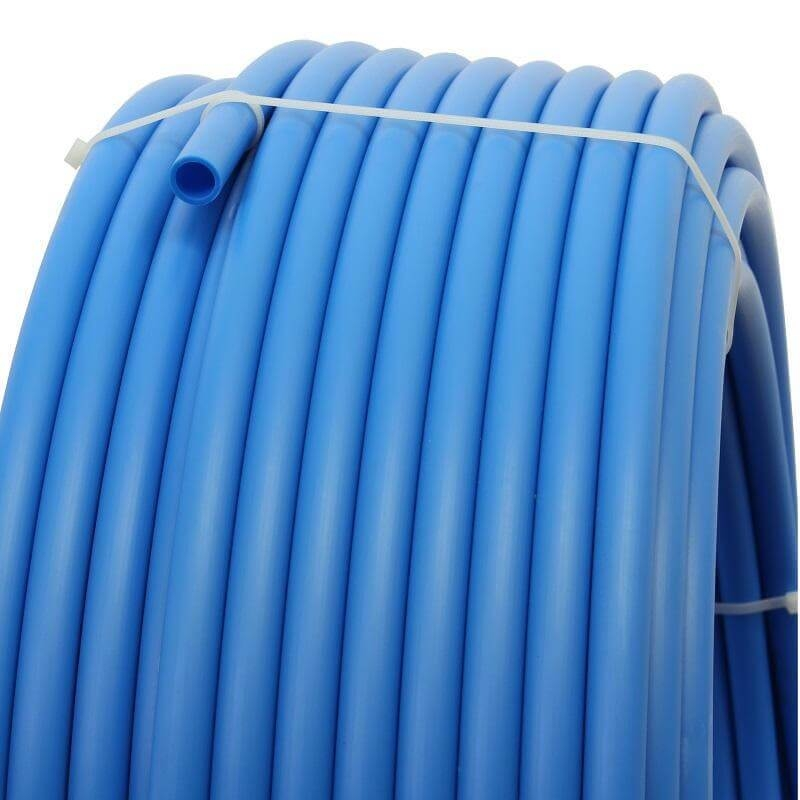 Plastic pipe made of HDPE-20mm, BLUE