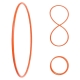 Faltbarer Hula Hoop, HDPE-20mm, Orange, Ø100 cm