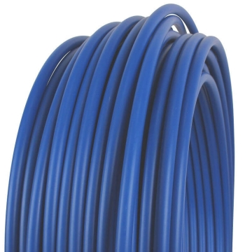 Polypropylene plastic tube Ø 20 mm, sold by the meter Blue